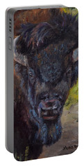 Elvis The Bison Portable Battery Charger