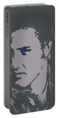 Portable Battery Charger featuring the painting Elvis The King by Robert Margetts