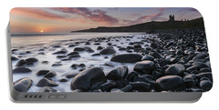 Embleton Bay And Dunstanburgh Castle At Dawn Portable Battery Charger