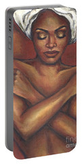 Portable Battery Charger featuring the painting Embrace Yourself by Alga Washington