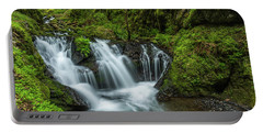 Emeral Falls Waterscape Art By Kaylyn Franks Portable Battery Charger