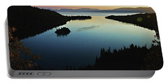 Emerald Bay, Lake Tahoe, Dawn Portable Battery Charger