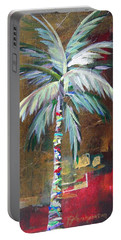 Emerald Fire Palm  Portable Battery Charger by Kristen Abrahamson