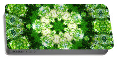 Portable Battery Charger featuring the digital art Emerald Lace by Shawna Rowe