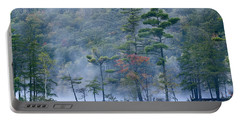 Emerald Lake In Fog Emerald Lake State Portable Battery Charger