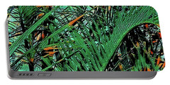 Portable Battery Charger featuring the digital art Emerald Palms by Mindy Newman