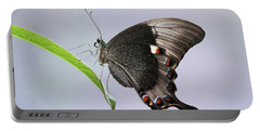 Emerald Peacock Swallowtail Butterfly V2 Portable Battery Charger