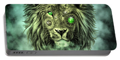 Emerald Steampunk Lion King Portable Battery Charger