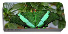 Emerald Swallowtail Butterfly Portable Battery Charger by Ronda Ryan