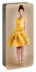 Portable Battery Charger featuring the digital art Emma by Nancy Levan
