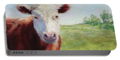 Portable Battery Charger featuring the painting Emmett by Vikki Bouffard