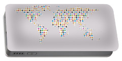 Emoji World Map Portable Battery Charger