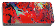 Emotional Soul - Red Abstract Canvas Painting Portable Battery Charger