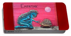 Empathetic Alien Portable Battery Charger by Similar Alien
