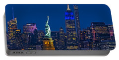 Empire State And Statue Of Liberty II Portable Battery Charger