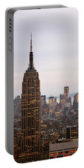 Empire State Building No.2 Portable Battery Charger by Zawhaus Photography