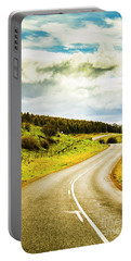 Empty Asphalt Road In Countryside Portable Battery Charger