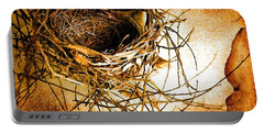 Portable Battery Charger featuring the photograph Empty Nest by Jan Amiss Photography