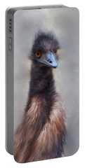 Portable Battery Charger featuring the photograph Emu by Robin-Lee Vieira