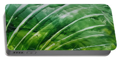 Encaustic Abstract Green Fan Foliage Portable Battery Charger