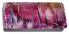 Encaustic Purple-pink Abstract Castles Portable Battery Charger