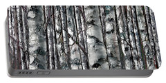 Enchanted Forest -black And White Portable Battery Charger