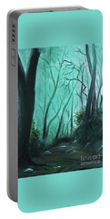 Enchanted Forest Portable Battery Charger by Derek Rutt
