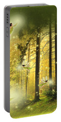 Portable Battery Charger featuring the digital art Enchanted Forest - Fantasy Art By Giada Rossi by Giada Rossi