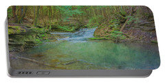 Portable Battery Charger featuring the digital art Enchanted Forest Two by Randy Steele