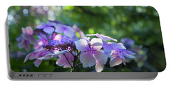 Portable Battery Charger featuring the photograph Enchanted Hydrangea by Theresa Tahara
