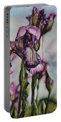 Enchanted Iris Garden Portable Battery Charger