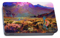 Enchanted Kokopelli Dawn Portable Battery Charger by Jane Small