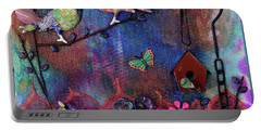 Enchanted Patchwork Portable Battery Charger by Donna Blackhall