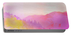 Portable Battery Charger featuring the digital art Enchanted Scenery #2 by Klara Acel