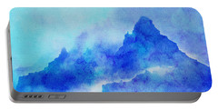 Portable Battery Charger featuring the digital art Enchanted Scenery #4 by Klara Acel
