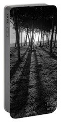 Enchanted Sunset In Monochrome Portable Battery Charger
