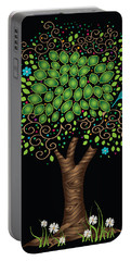 Enchanted Tree Portable Battery Charger by Serena King