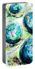 Portable Battery Charger featuring the painting Enchanthing Sea Urchins by Monique Faella
