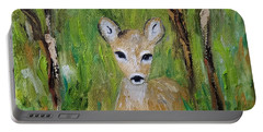 Portable Battery Charger featuring the painting Enchantment by Judith Rhue