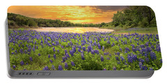 End Of A Bluebonnet Day Portable Battery Charger