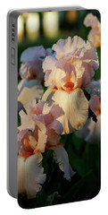 End Of Day Pink Irises 6702 H_2 Portable Battery Charger