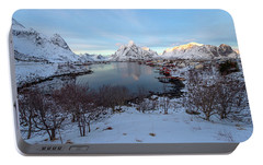 Portable Battery Charger featuring the photograph End Of Day, Reine, Lofoten,  by Dubi Roman