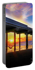 End Of The Day, Scripps  Pier, California Portable Battery Charger