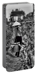 End Of The Day Vietnamese Woman  Portable Battery Charger by Chuck Kuhn