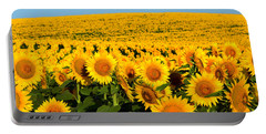 Endless Sunflowers Portable Battery Charger by Catherine Sherman