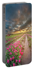 Portable Battery Charger featuring the photograph Endless Tulip Field by William Lee