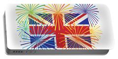 England Jack Union Flag Fireworks Illustrationing Evening Blu Portable Battery Charger