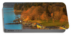 English Bay At Golden Hr. Portable Battery Charger