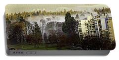 English Bay Fog #2 Portable Battery Charger