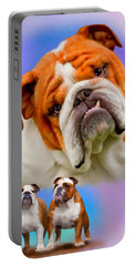 English Bulldog- No Border Portable Battery Charger